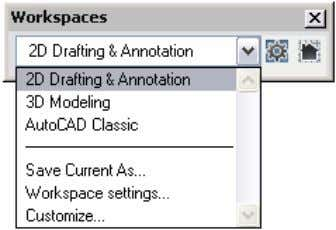 for performing 3D modeling or 2D drafting and annotation. Figure 7. Workspaces. Using the Dashboard The