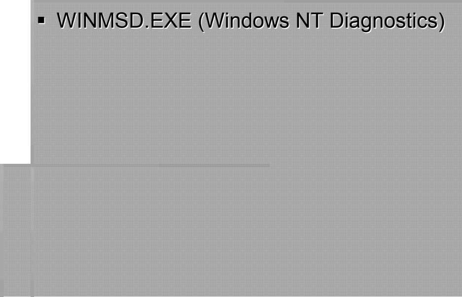 WINMWINMSDSD.EXE.EXE (Windows(Windows NNTT DiDiaagngnoostics)stics)
