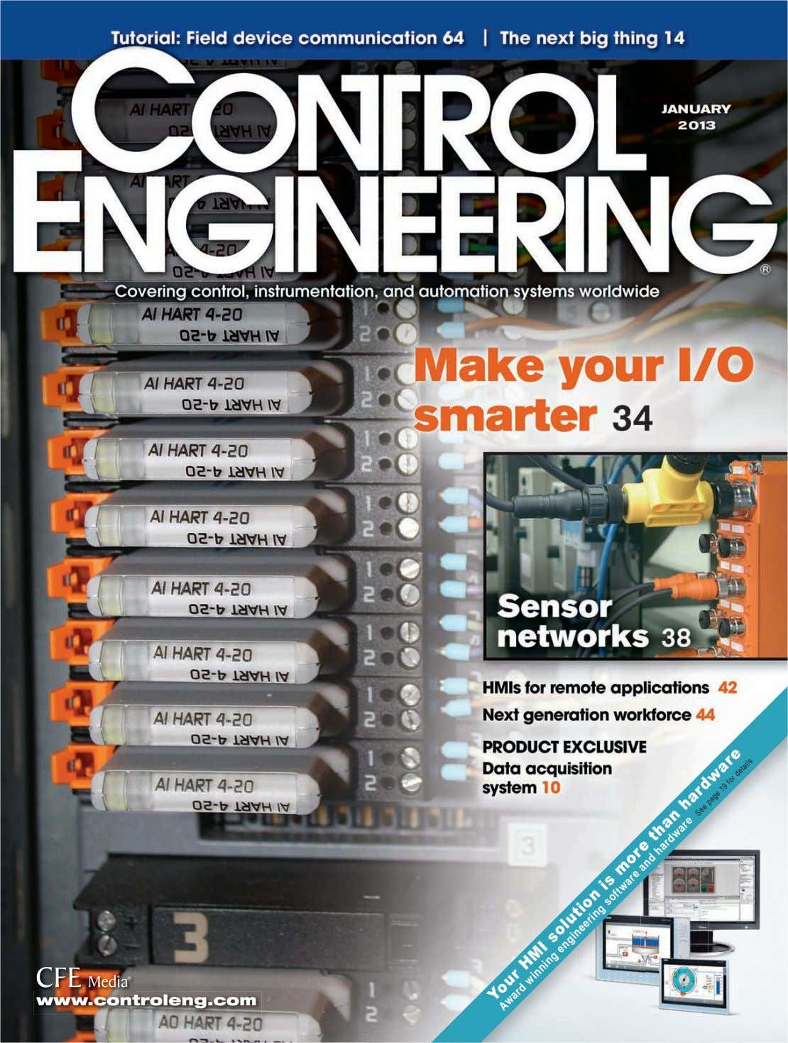 www.controleng.com than hardware HMI engineering is more See page 19 for details Award winning Your