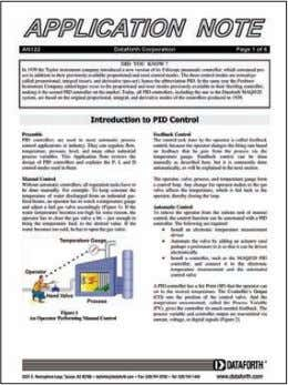 Introduction to PID Control Lee Payne | CEO, Dataforth Download this paper now at: http://www.dataforth.com/catalog/