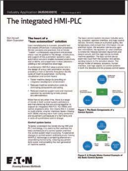 Download this paper at: www.eaton.com/hmiplc The Integrated HMI-PLC Rich Harwell | Advanced Solutions Manager at