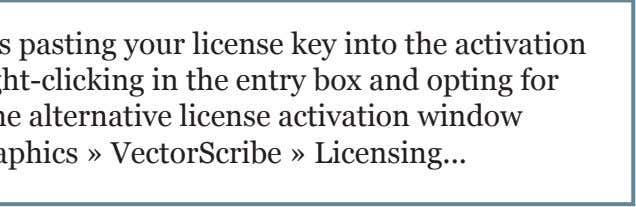If you experience difficulties pasting your license key into the activation plugin window, paste by