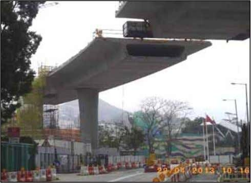 erection to minimize traffic impact on the public 1) Pre-cast segmental method MTR Corporation Limited 2)