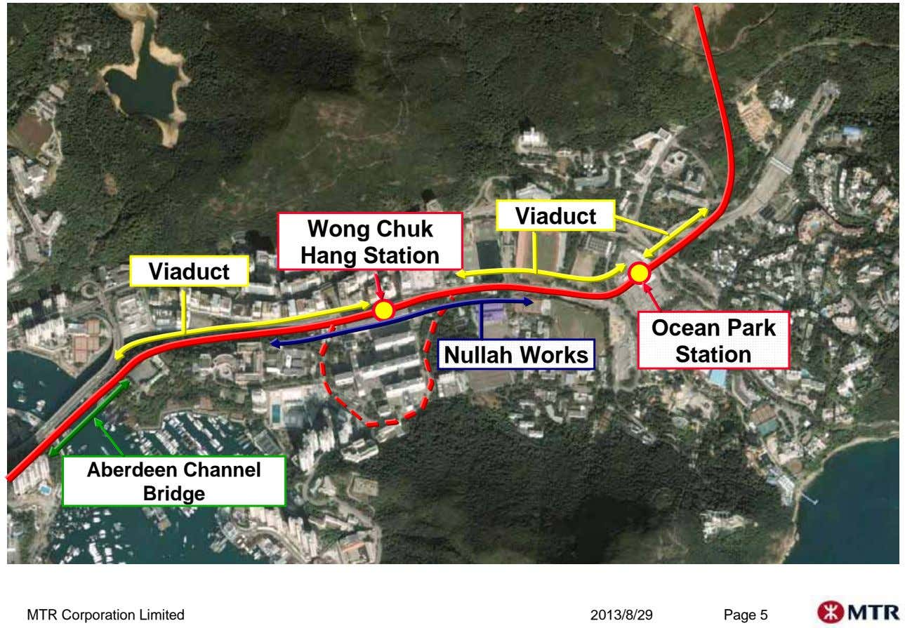 Viaduct Wong Chuk Hang Station Viaduct Nullah Works Ocean Park Station Aberdeen Channel Bridge MTR