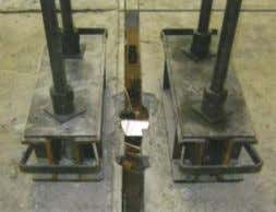 at the top and bottom flanges via a welded 20mm steel plate. Figure 5: Elevation of