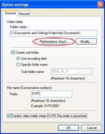 folder, and click [Performance check]. 2. Click [Start]. • The performance check of the hard disk