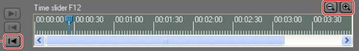 playback position by dragging the slider with the mouse. 1 2 Slider 1 The slider returns