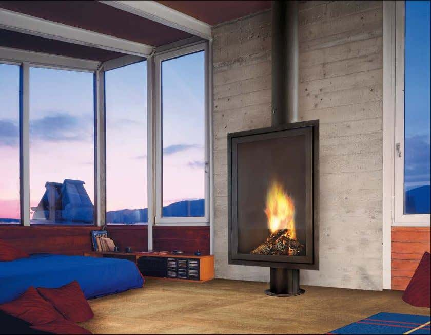 eurofocus 950 Cheminée murale ou d'angle, au foyer ouvert Free-standing wall or corner open fire