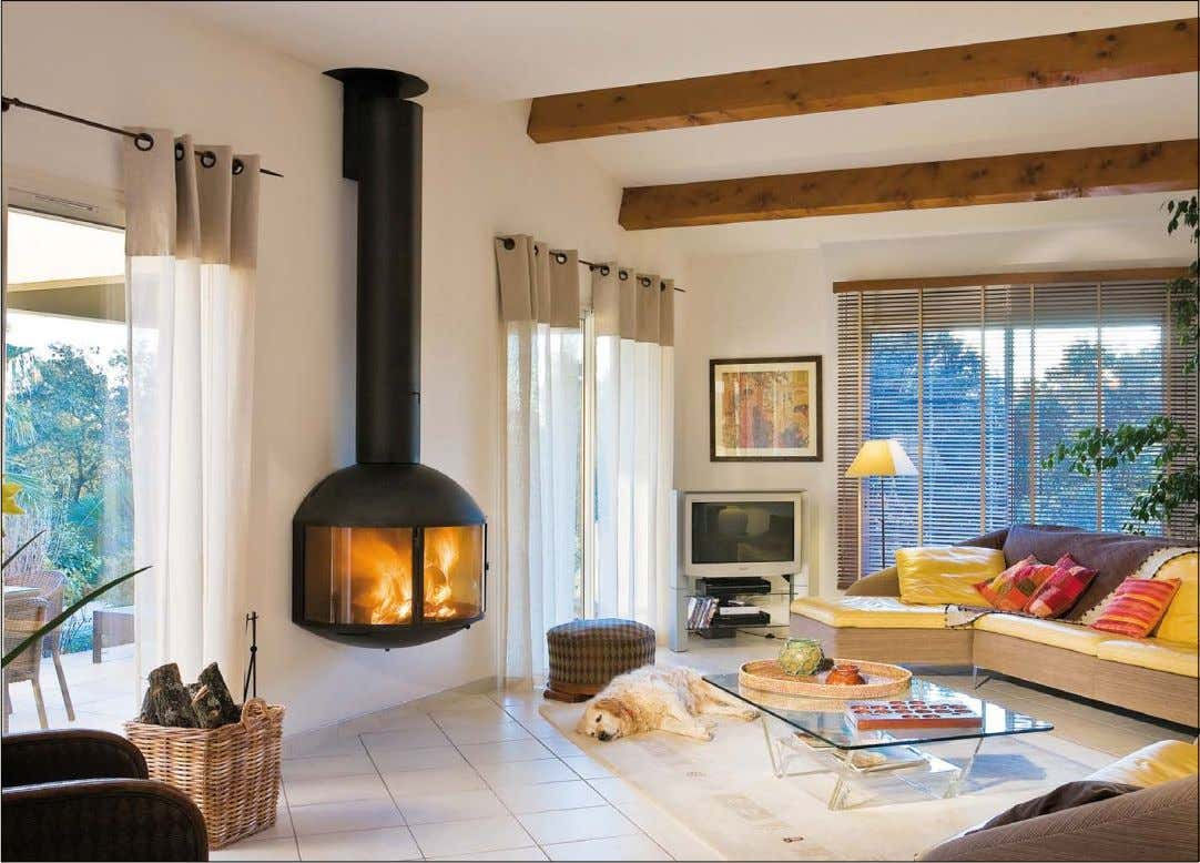 édofocus 850 p.104 << Cheminée murale au foyer vitré Wall-mounted fire with curved glass doors Camino