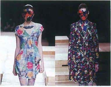(left to right) Pixel Fashion by Kunihiko Morinaga for Anrealage. www.anrealage.com Google employees recently began