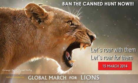 Services to put lions on the endangered species list. Lions that are in captivity often develop