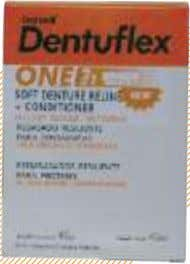 Dentuflex Dentuflex Durable denture reline. Plasticized to remain resilient in the patient´s mouth for 9-12