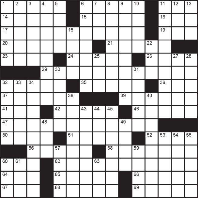 And Sometimes Y Barbara Olson © ClassiCanadian Crosswords ACROSS   51 In slack-jawed 22 Wonderland