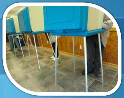 IMAGE: A polling place where people are voting by writing on paper ballots. All we