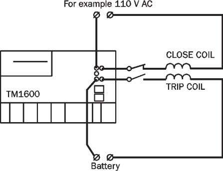 4] Start breaker operation with the START switch. The trip circuit will be energized when the