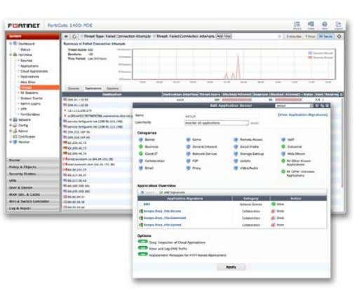 DATA SHEET: FortiGate/FortiWiFi ® 90D Series SOFTWARE FortiOS Managment UI — FortiView and Application Control