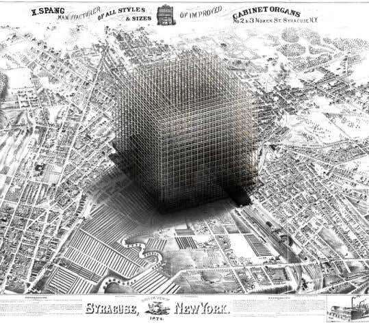 New Mobility System, Philadelphia, 1870. Right. Project 1.0, A Square over New Orleans, LA, 1885 Project