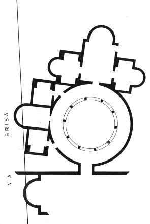 remains are probably to be found under the buildings around via Brisa. Plan of the Imperial