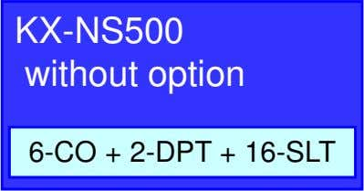 KX-NS500 without option 6-CO + 2-DPT + 16-SLT