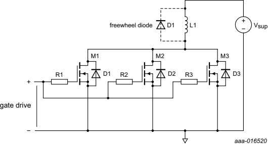 Fig 9. Low side MOSFET group driving a high side inductive load
