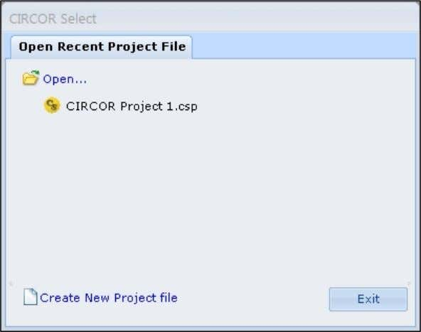 project. Refer to Chapter 6 Project for more information. Click Create New Project file to start