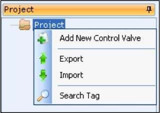 project/line item navigation pane, and then click Add New Control Valve . CIRCOR Select User Manual