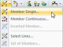 With the button [Member Single] we open again the dialog box New Member where