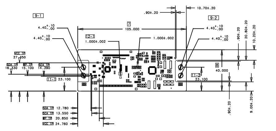 LC320DXJ Product Specification 6-2. Control Board Assembly Dimension Ver. 1.0 21 /37