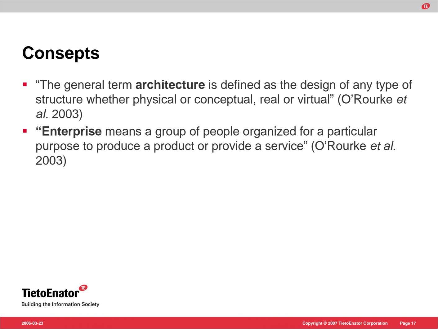 "Consepts ""The general term architecture is defined as the design of any type of structure"