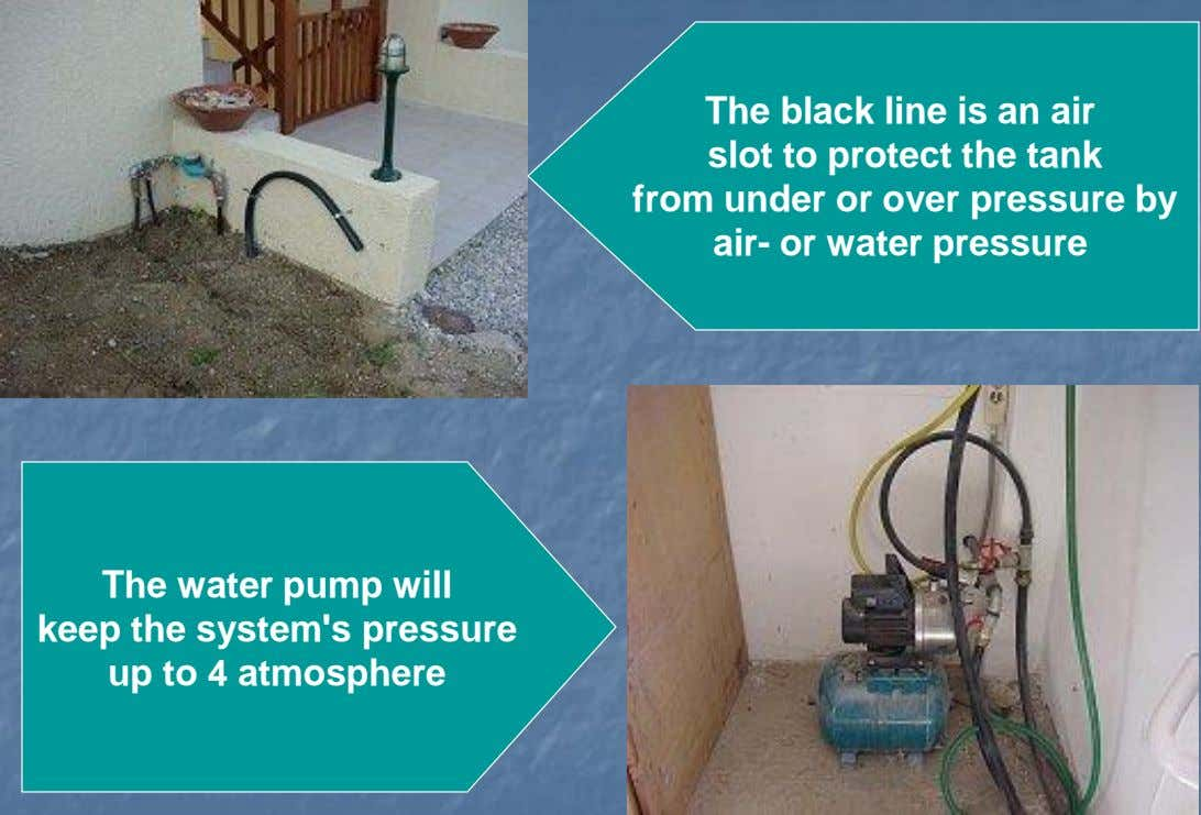 The black line is an air slot to protect the tank from under or over pressure