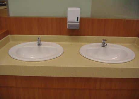 Material – glazed fireclay.   Combined basins (two basins).  The finishing is made by