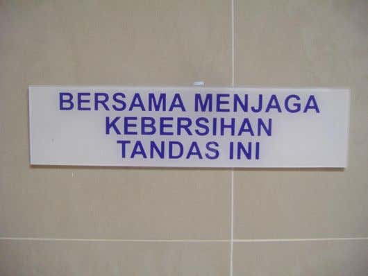 KEEP OUR PUBLIC TOILET CLEAN