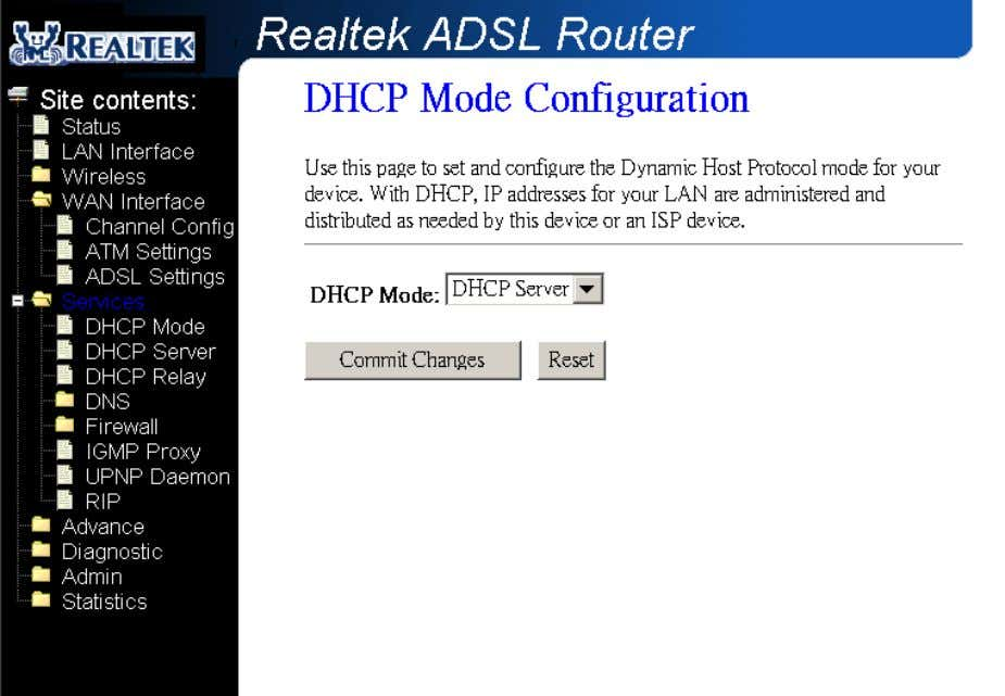 Relay, you can setup the relay at the DHCP Relay page. 4.4.2 DHCP Server Configuration By