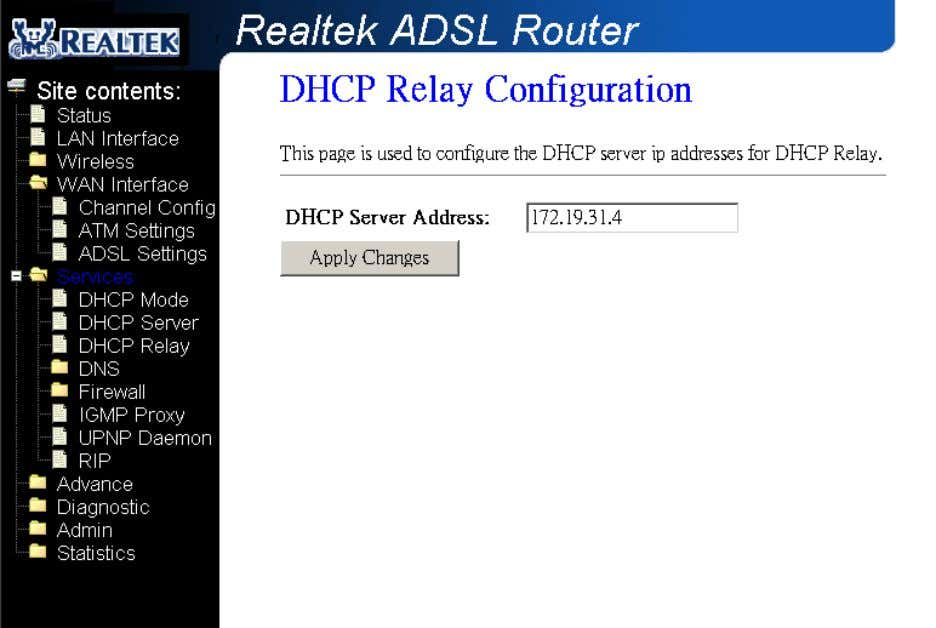 set the DHCP mode after you configure the DHCP relay. Fields in this page: Field Description