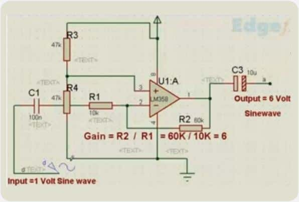 Inverting Amplifier Inverting Amplifier Two resistors R1 and R2 are connected in the circuit in such