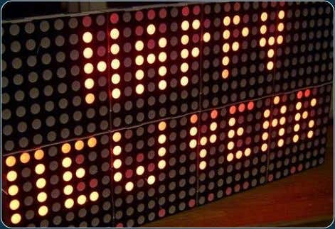 this dot matrix display, we can reduce the number of pins required for controlling all the