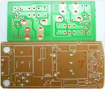 the drawing using PCB design software like ORCAD, EAGLE, making mirror sketch, etching, tinning, drilling, etc.