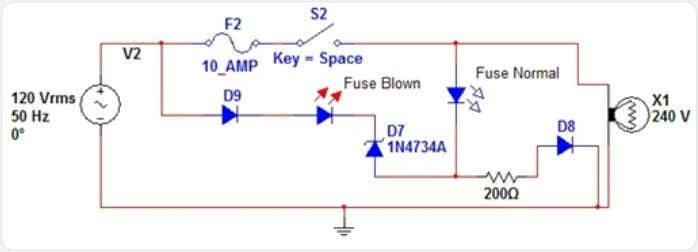 indication is a primary fault indication. Circuit Diagram Fuse failure indication Circuit Description It is a