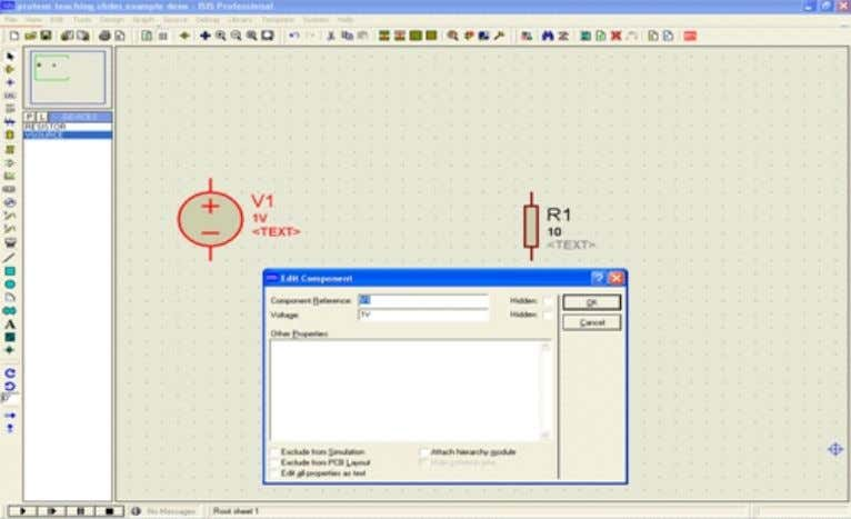 next select <<edit properties>>, and then click <<OK>> Circuit Designing by Proteus 54
