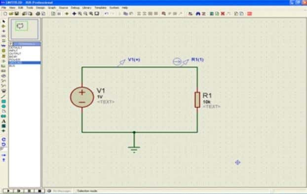 probes. The Current probe should be on a horizontal wire. Circuit simulating in Proteus There are
