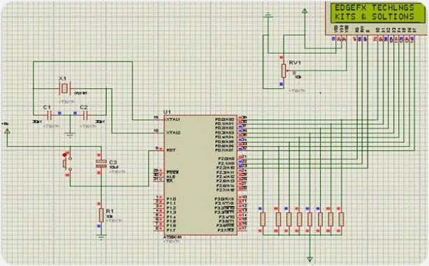 In this LCD each character is displayed in 5*7 pixel matrix. LCD Interfacing to Microcontroller #include<reg51.h>