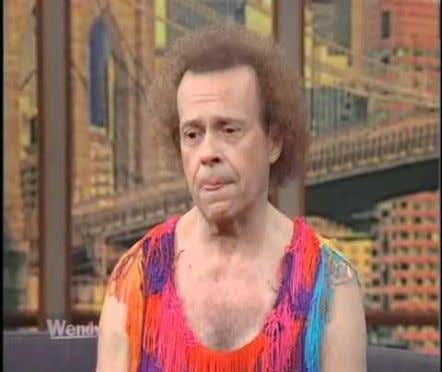 (Photos Courtesy of the Wendy Williams Show) Even fitness guru Richard Simmons had a serious eating