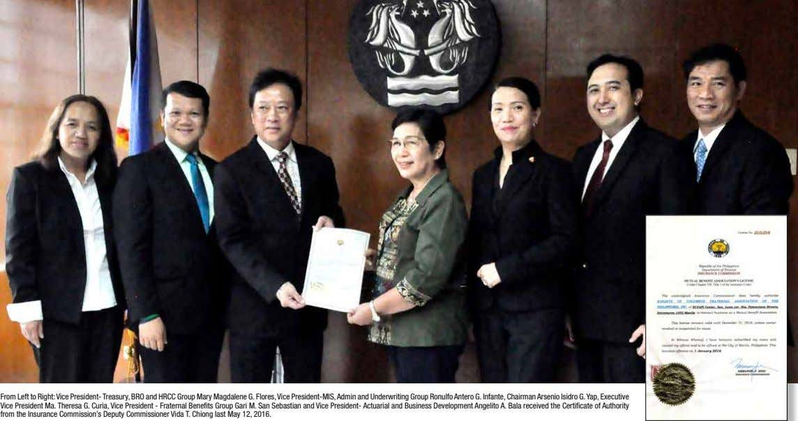 From Left to Right: Vice President- Treasury, BRO and HRCC Group Mary Magdalene G. Flores,