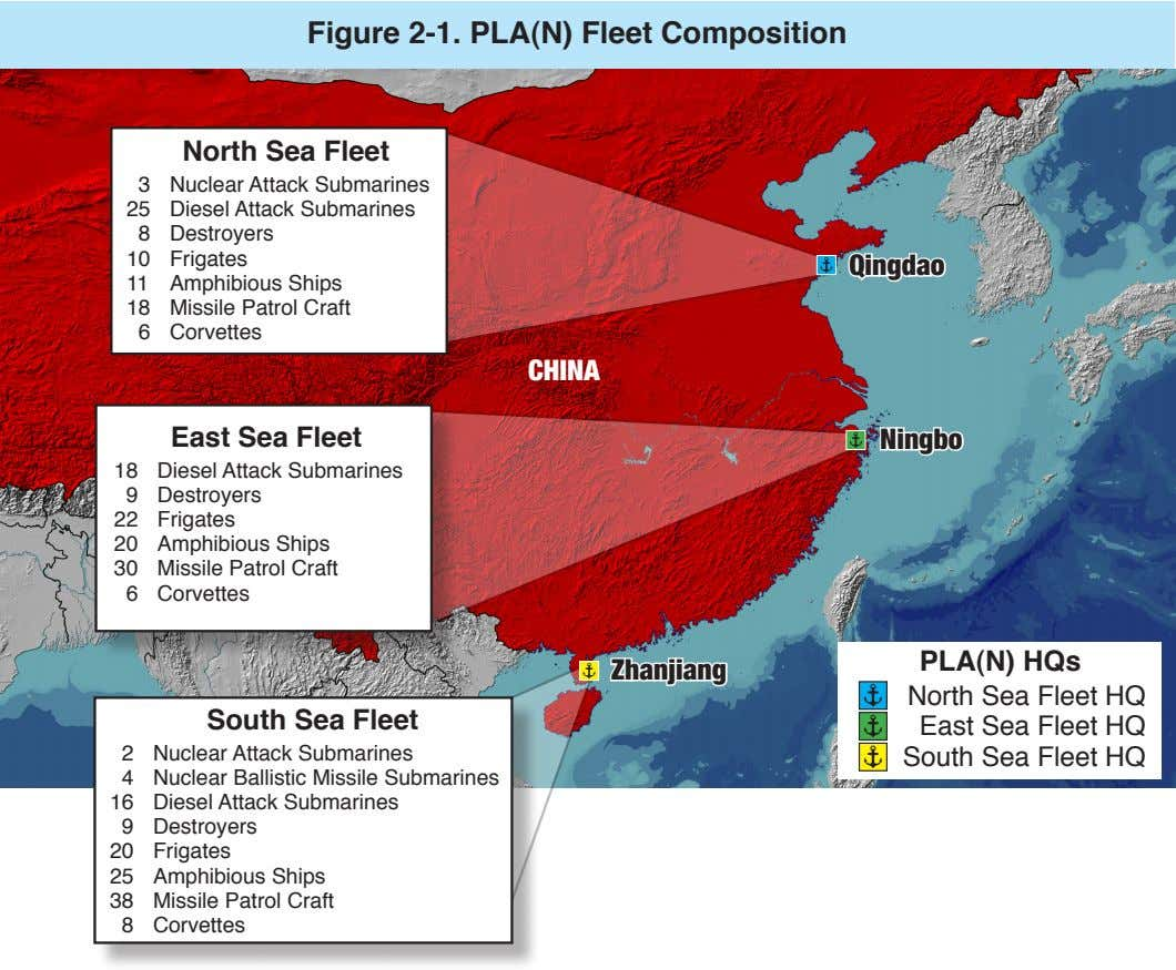 Figure 2-1. PLA(N) Fleet Composition North Sea Fleet 3 25 8 Nuclear Attack Submarines Diesel