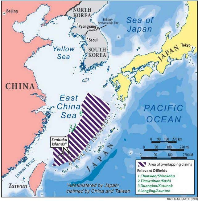 *Administered by Japan; claimed by China and Taiwan