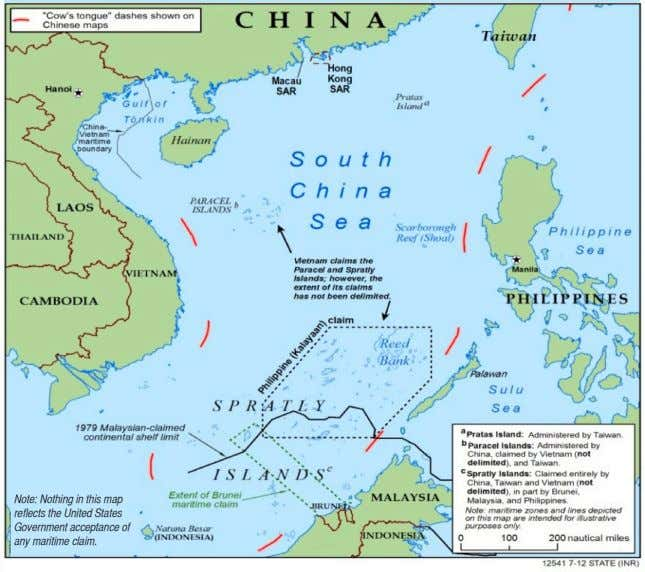 Note: Nothing in this map reflects the United States Government acceptance of any maritime claim.