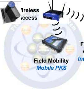 Wireless Access Field Mobility Mobile PKS
