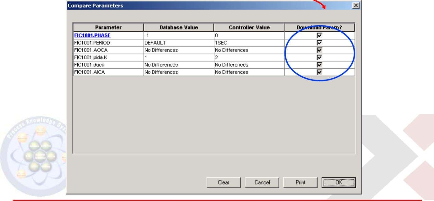 individually select whether particular controller parameters are overwritten when downloaded Download is selectable 14