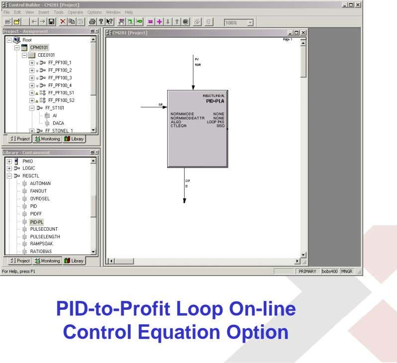 PID-to-Profit Loop On-line Control Equation Option