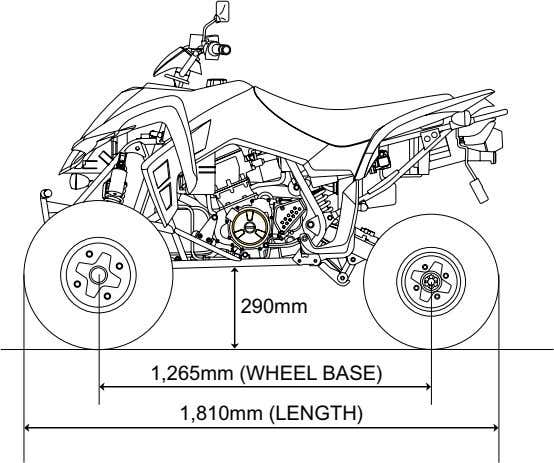 290mm 1,265mm (WHEEL BASE) 1,810mm (LENGTH)